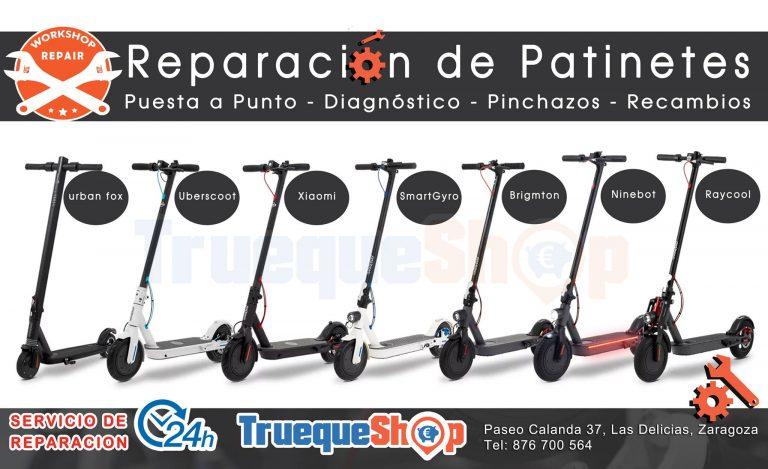 Reparación de patinetes eléctricos Zaragoza